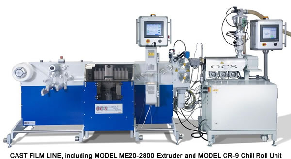 Cast Film Line, including Model ME20-2890 Extruder and Model CR-9 Chill Roll Unit