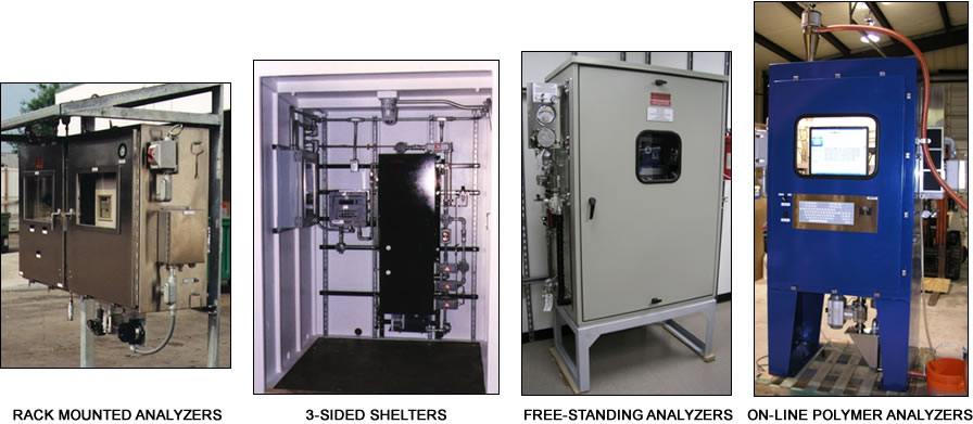 Southern Analytical Rack Mounted Analyzers, 3-Sided Shelters, Free-Standing Analyzers, and On-Line Polymer Analyzers